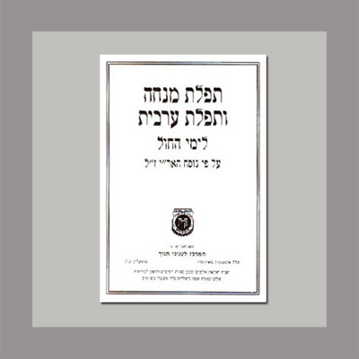 Mincha Maariv Liyimei Hachol