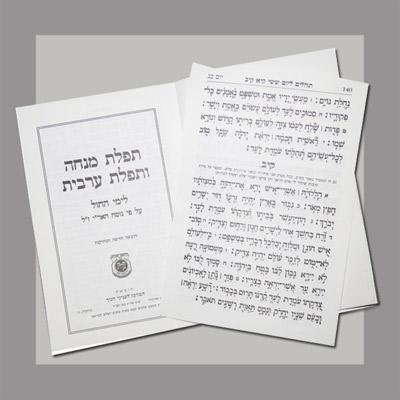 Mincha Maariv w Tehillim