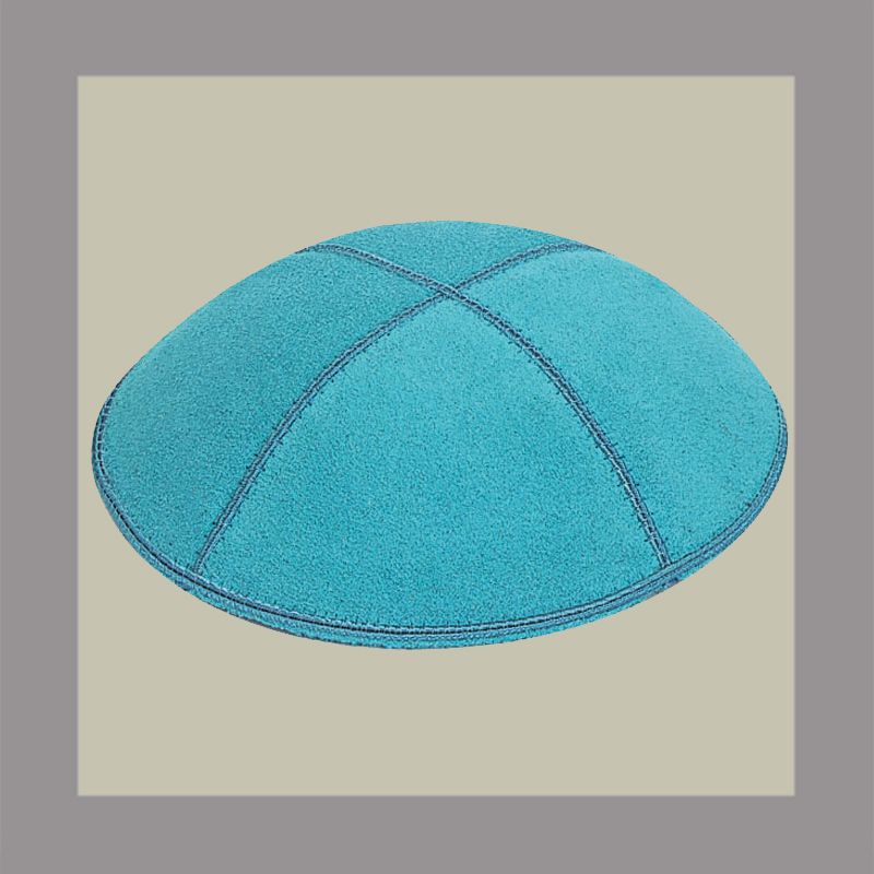 Turquoise Suede Kippah