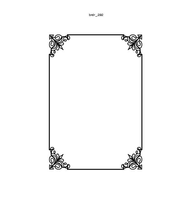 Empire Press Items Border Design Ideas
